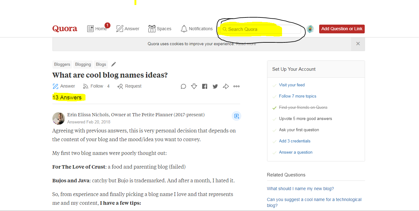 How to find Blog Name Ideas # Topic Generator