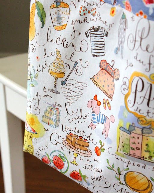 French Market Tote Bag from A Bright Corner blog
