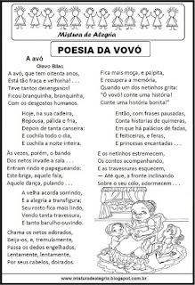 Poesia a avó, Olavo Bilac