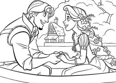 lesbian wedding coloring pages | Imagina Disney: Enredados para pintar