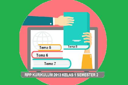 RPP K13 Kelas 1 Semester 2 Revisi 2018