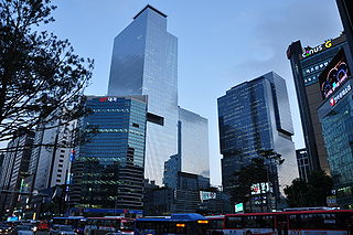 Samsung Town en el área de la estación de Gangnam en Seú