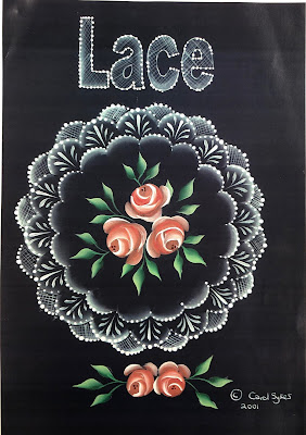 Vintage Roses and lace design created by Carol Sykes from You Can Folk It