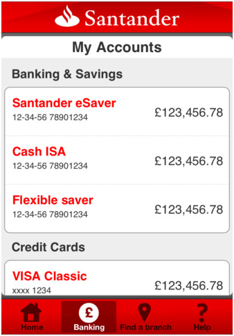 Santander 123 credit card cash back list