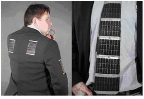 Thin film solar cells in cloth
