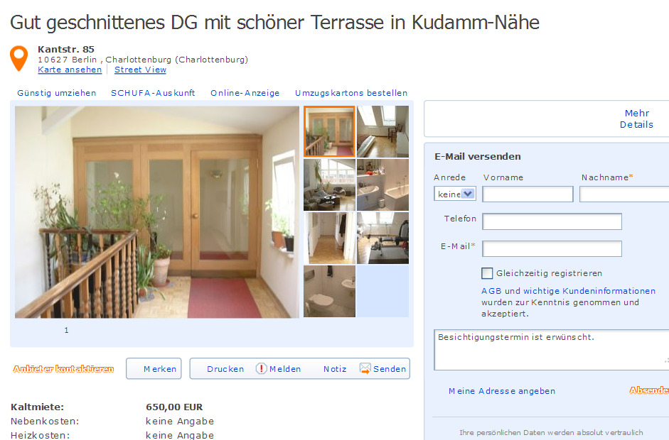 Gut geschnittenes dg mit for Wohndesign kantstr berlin