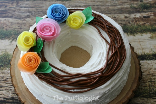 how to make a wreath cake
