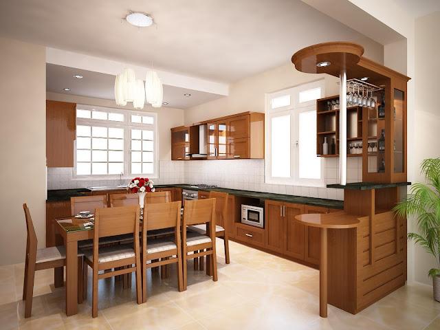 Giá tủ bếp gỗ Xoan Đào Mới