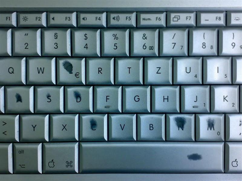 Abgeschubberte Tastatur