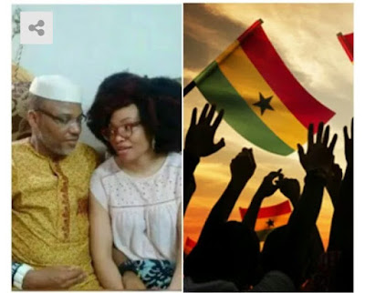 Nnamdi Kanu and wife spotted in Ghana