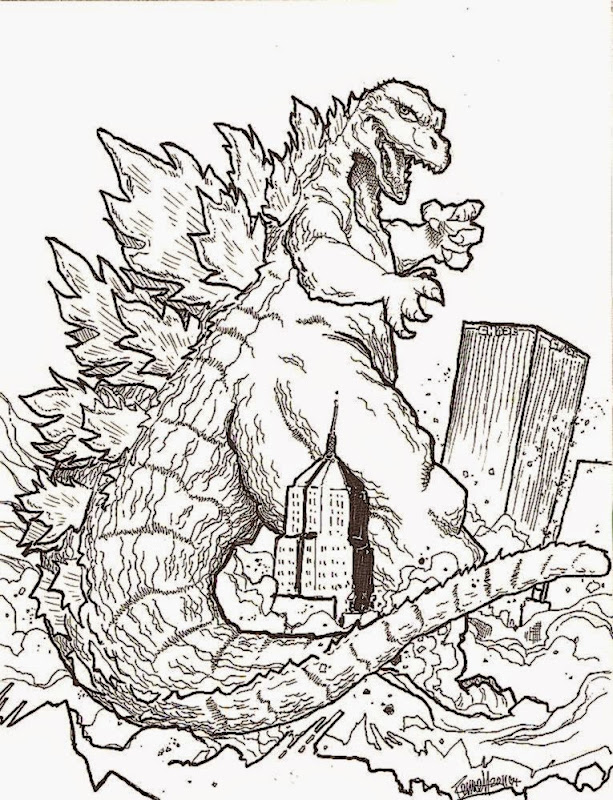godzilla coloring pages - Free Large Images | 800x613