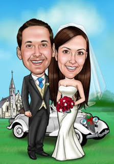 Gambar Karikatur Wedding Mobil Modern