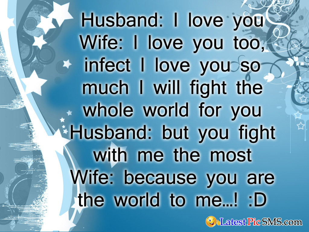 husband wife funny jokes - SMS of The Day in English with Pictures for Whatsapp & Facebook