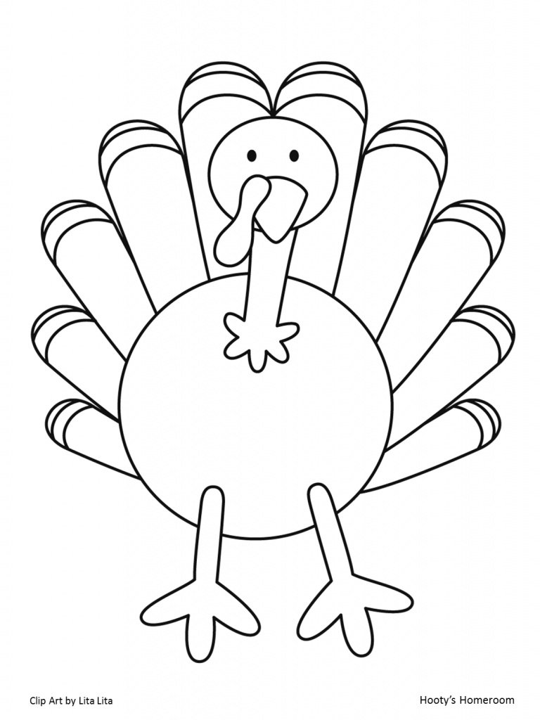 Peaceful image inside free printable turkey template