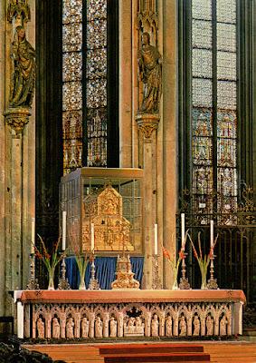 Postal: Tumba de los Reyes Magos en la Catedral de Colonia