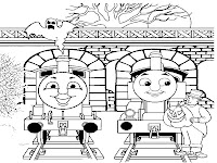 Thomas And Percy Train Coloring Pages