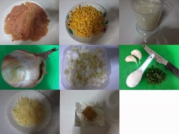 Receita de creme de milho com frango