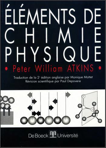 Livre : Eléments de chimie physique - Peter William Atkins