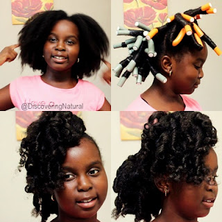 Flexi Rod on Natural Hair using Eden Bodyworks Citrus Fusion