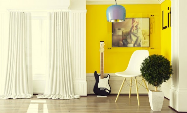 Resultado de imagem para feng shui parede amarela