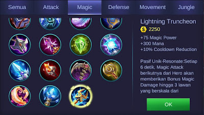 Lightning Truncheon Mobile Legends