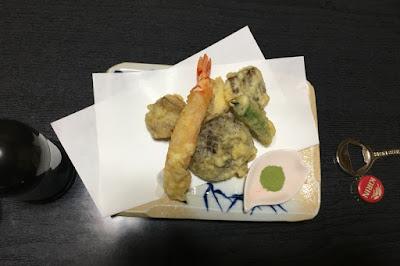 力休の夕食 天ぷら