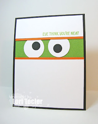 Eye Think You're Neat card-designed by Lori Tecler/Inking Aloud-stamps from Lawn Fawn
