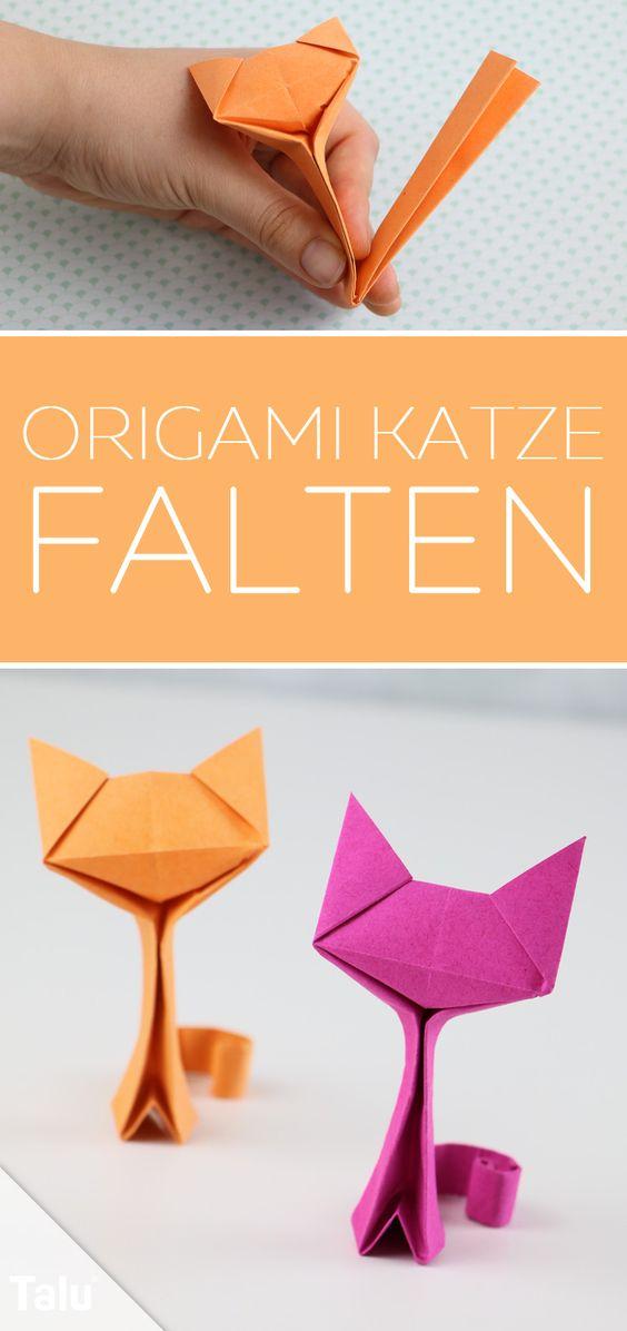 Anleitung - Origami Katze falten