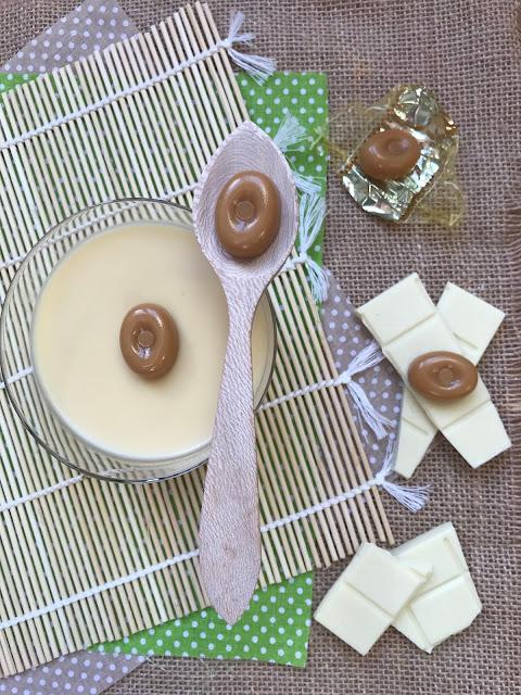 panna cotta de chocolate blanco y caramelos toffee receta