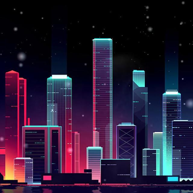 Neon Skyline Wallpaper Engine