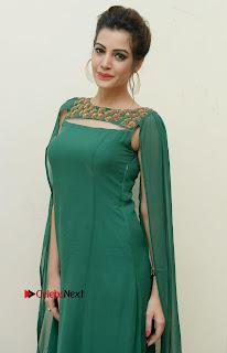 Diksha Panth Latest Pictures in Green Dress at Banti Poola Janaki Audio Function