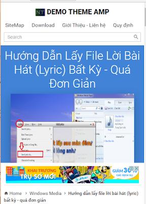 Chia sẻ theme (Google AMP) Accelerated Mobile Pages blogspot - mượt mà, tối ưu , best SEO