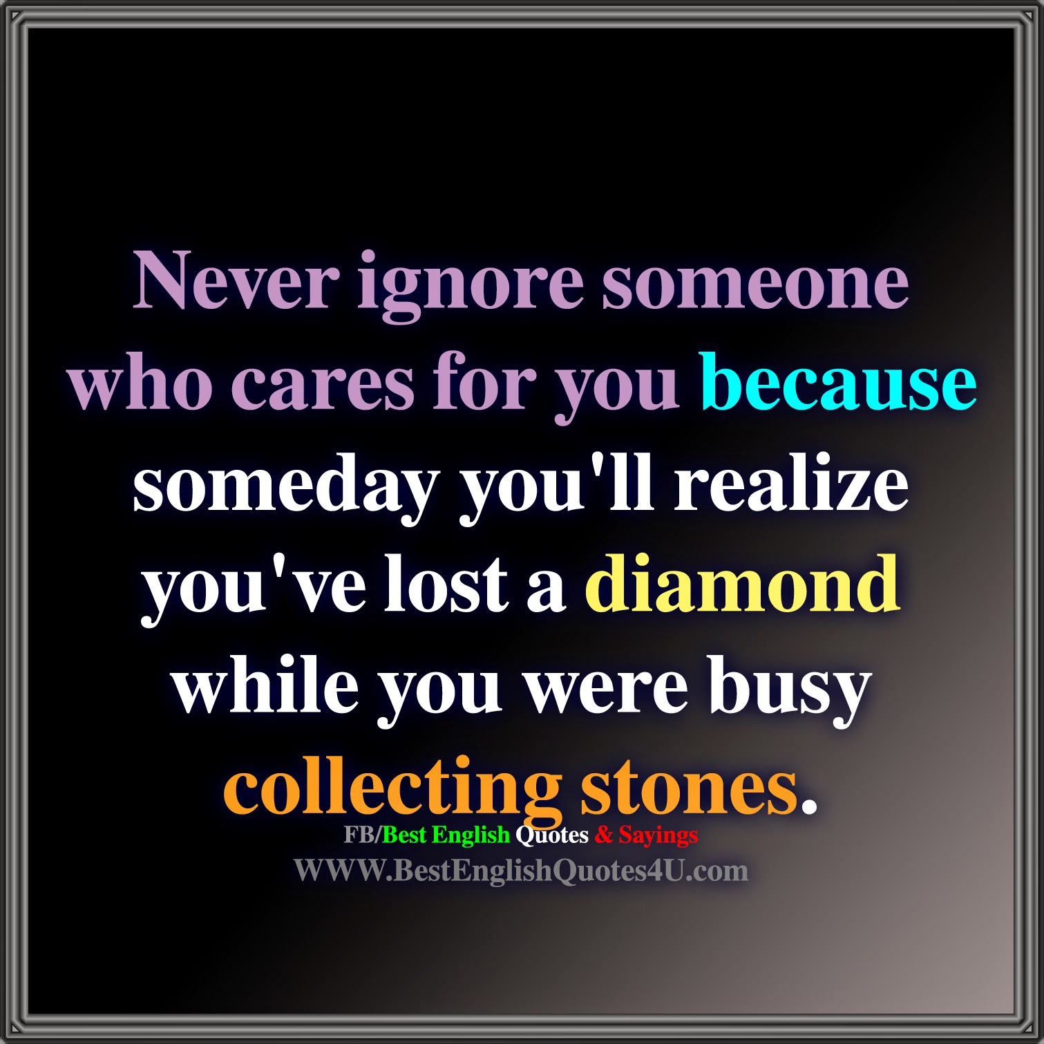 Never ignore someone who cares for you | Best English