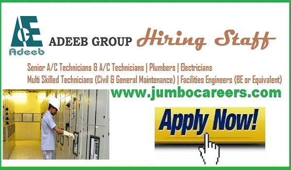 Adeeb group latest job careers 2018, Latest company jobs with salary,