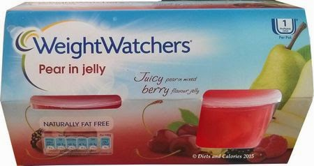 Weight Watchers Pear in Jelly pots