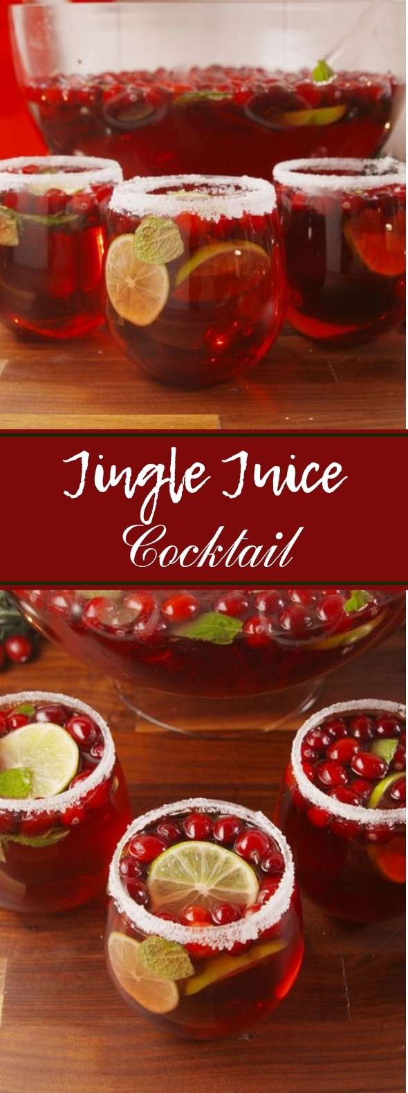 Jingle Juice Cocktail #christmas #cocktails