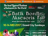 Pameran Batik Bordir & Aksesoris Fair 2017 di Surabaya