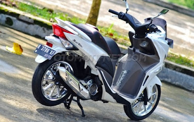 Foto Modifikasi Honda Spacy 2012, Rasa NMAX Small Size