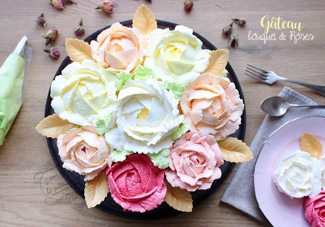 recette gateau bouquet de roses