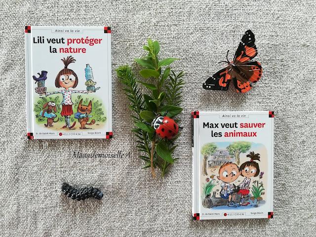    Sélection de livres sur l'écologie et le développement durable : Lili veut protéger la nature, Max veut sauver les animaux