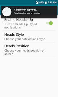 heads up setting preview