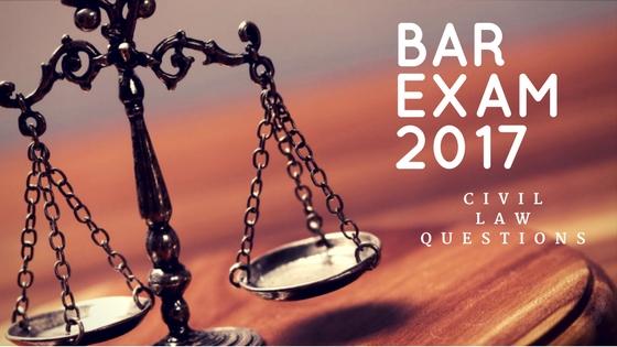 2014 bar questions civil law