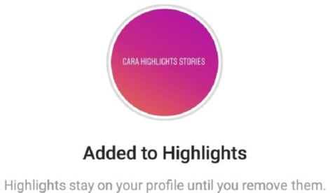 cara membuat highlight di instagram