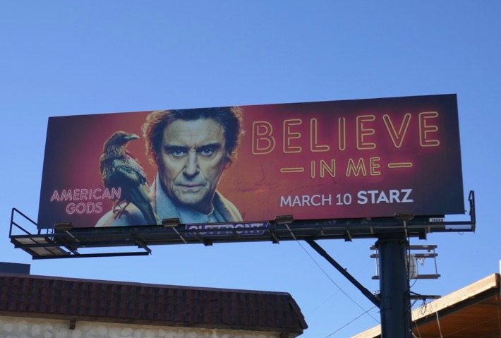 Believe in Me American Gods season 2 billboard