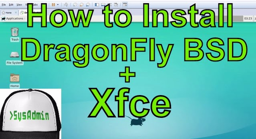 How to Install DragonFly BSD 4 6 Xfce Desktop and Review on VMware