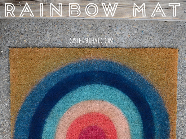 do it yourself Rainbow Mat