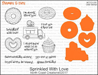 North Coast Creations Sprinkled With Love Stamps and Dies