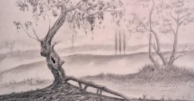 مدونة أرسم بالرصاص تعلم الرسم منظر طبيعي خطوة بخطوة