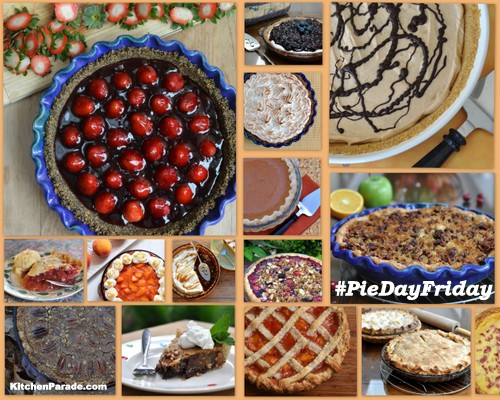 Join ♥ KitchenParade.com for #PieDayFriday, a celebration of pie. Recipes, tips and more.