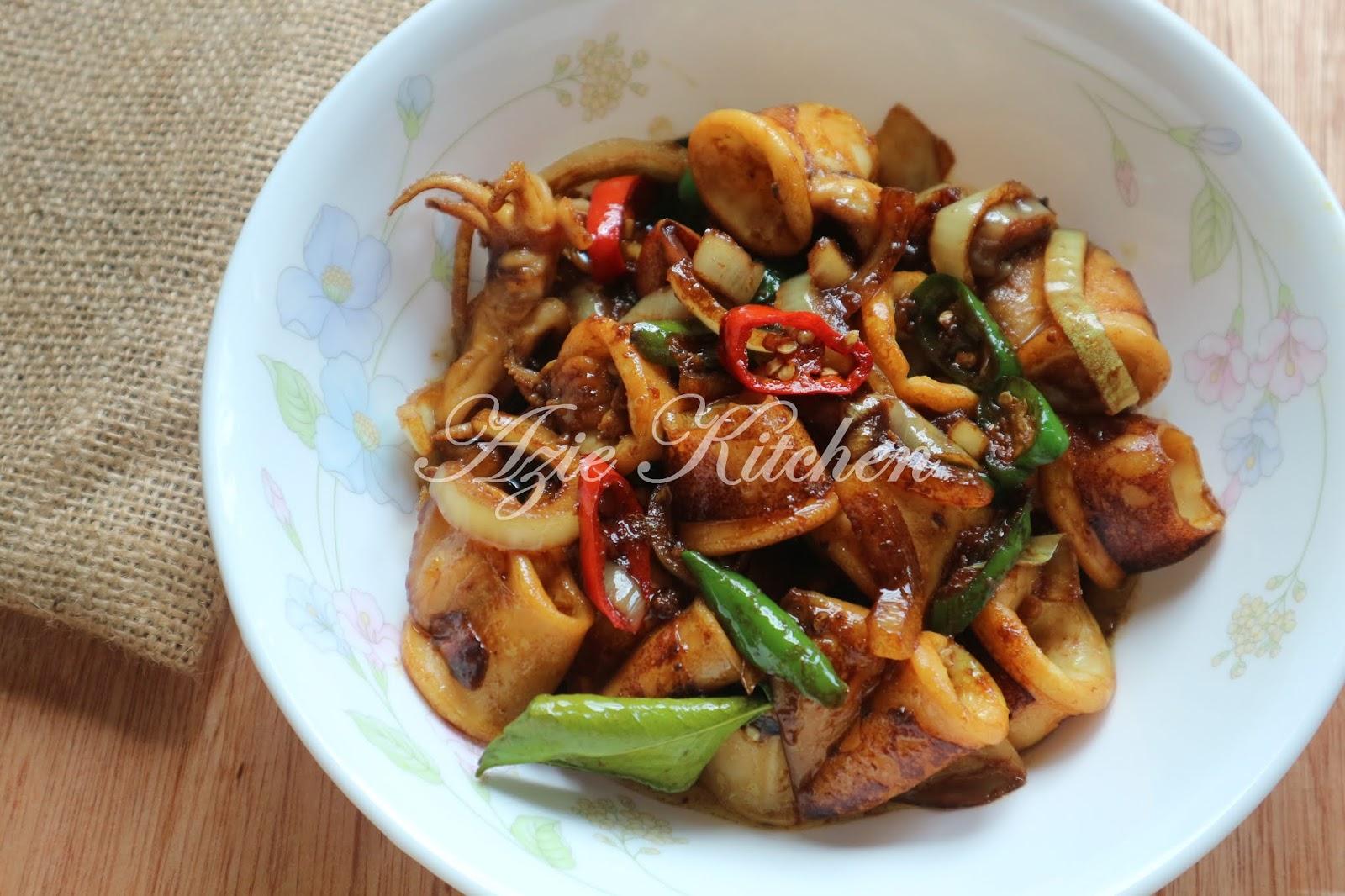 Sotong Masak Kicap Mudah Azie Kitchen